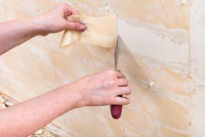 Glasvezelbehang verwijderen