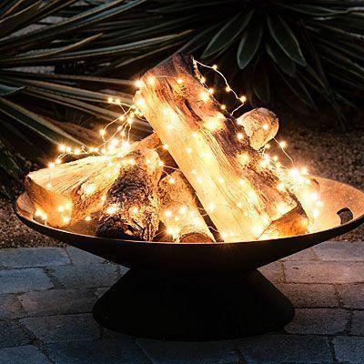 Kerst tuin vuurkorf - tuin gezelliger maken