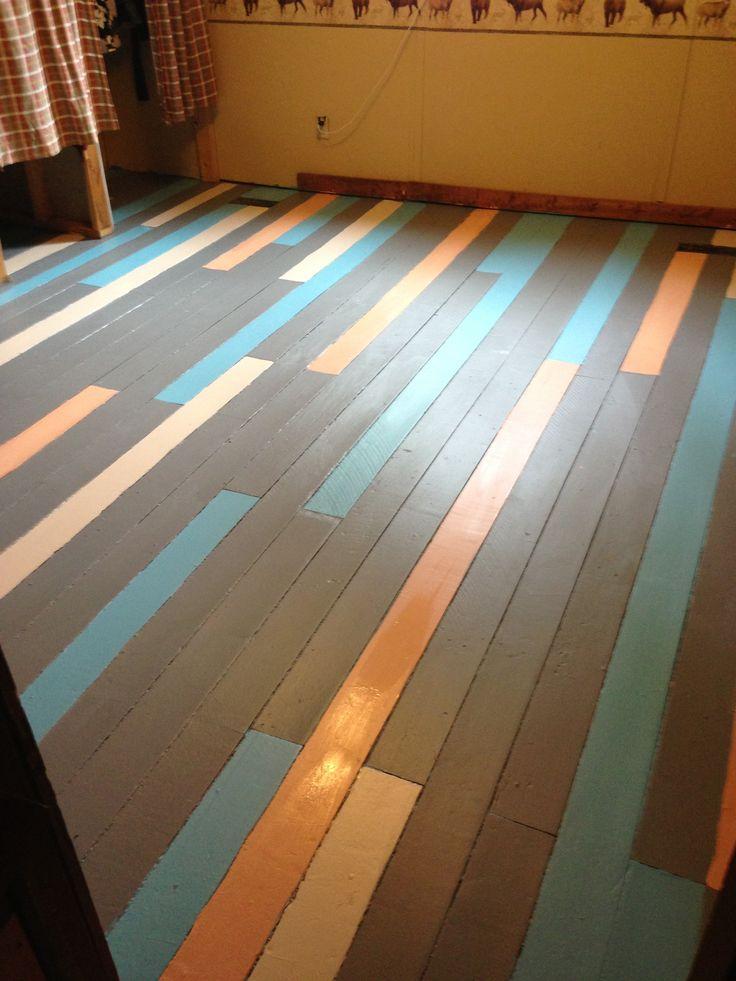 Vloer in verschillende kleuren