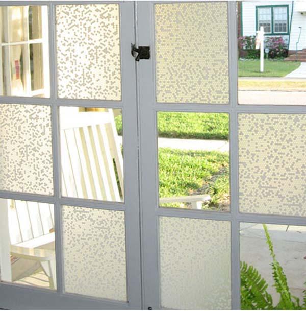 raamfolie op deur