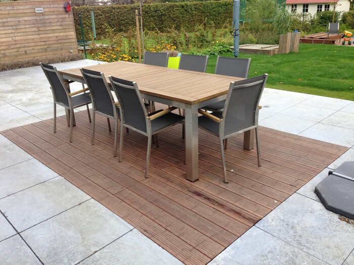 Je tuin een warme uitstraling geven bouwsuper - Bedek een houten terras ...