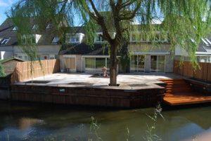 houten damwand waterkant