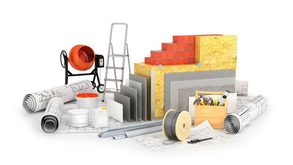 opslaan van bouwmaterialen