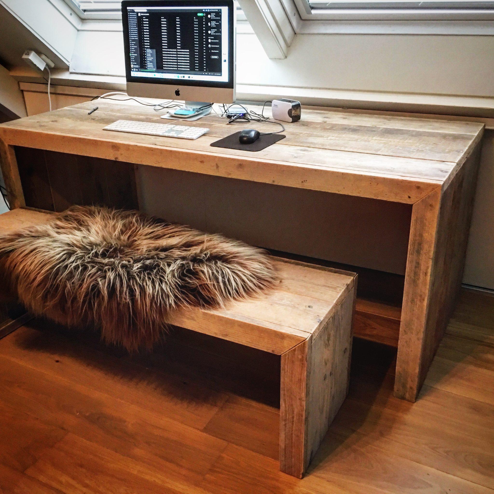 5x mooie steigerhouten meubelen bouwsuper for Bureau van steigerhout maken