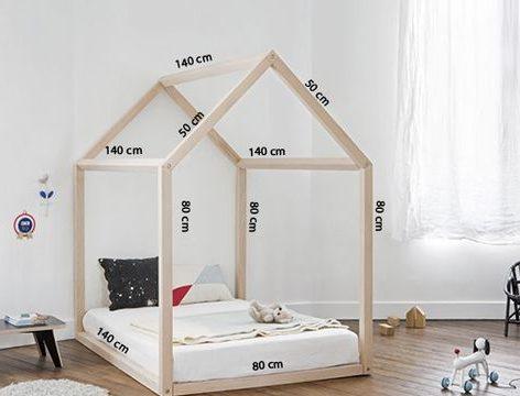 Zelfgemaakt bed met afmetingen - decohome.com