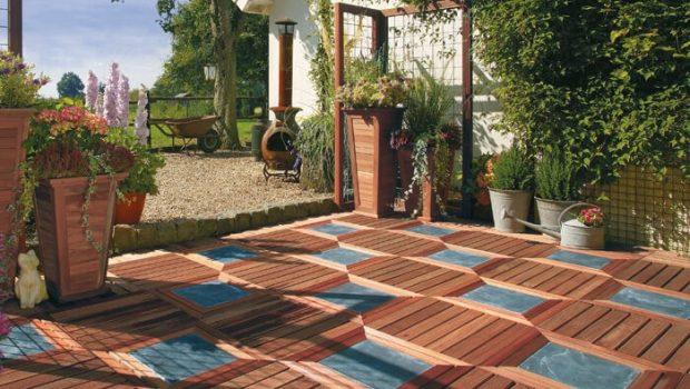 houten terrastegel met contrast