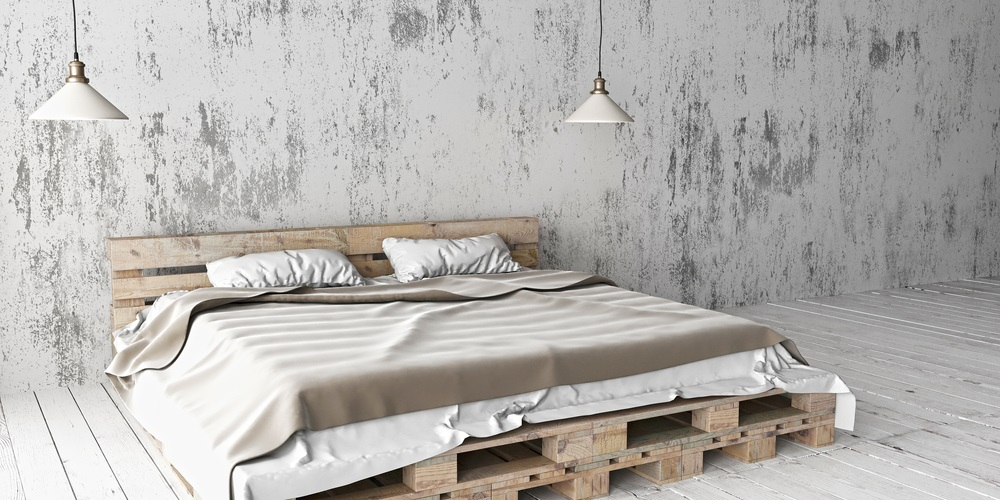 Bed houten pallets