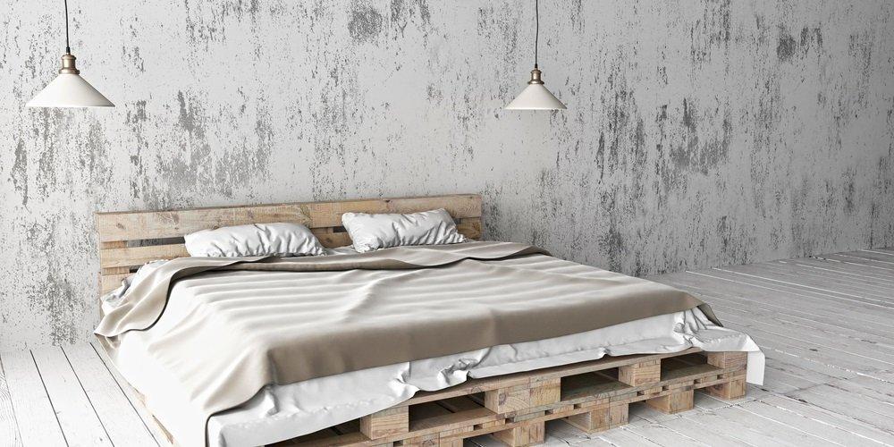 Bed houten pallets