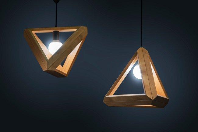 2. Een doe-het-zelf houten lamp