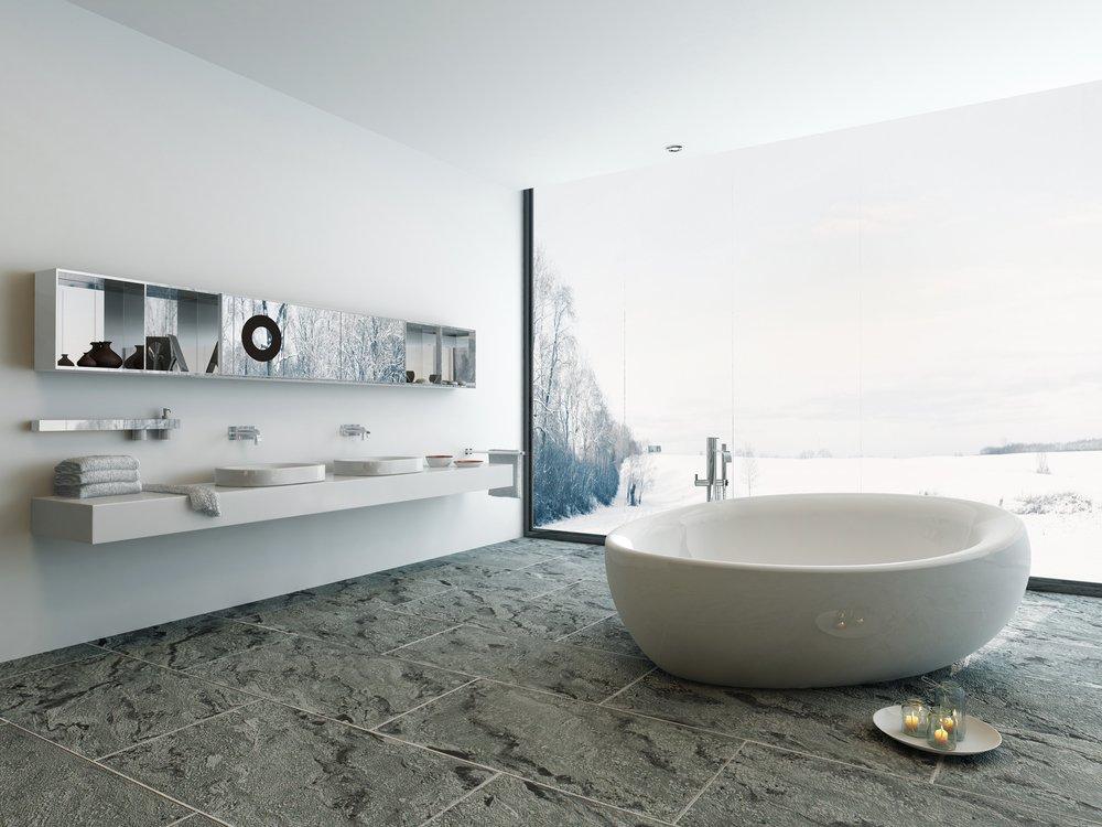 Marmeren Badkamer Vloer : Verschillende soorten tegels voor in de badkamer bouwsuper