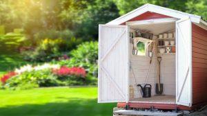 Inrichten van tuinhuis