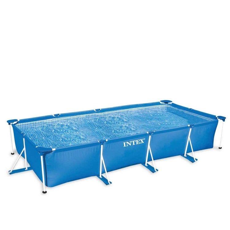 Zwembad met metalen frame