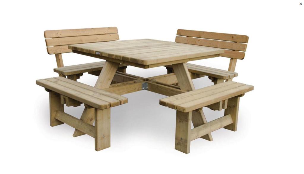 vierkante picknick tafel