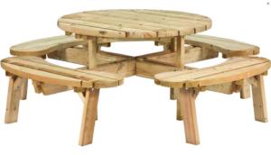 ronde picknick tafel