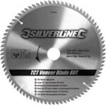 10. Silverline TCT fineer cirkelzaagblad, 80 tanden 250 x 30