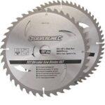 4. Silverline TCT zaagbladen voor cirkelzaag 2 pk 250mm