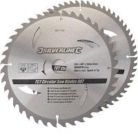 Silverline TCT zaagbladen voor cirkelzaag 2 pk 250mm
