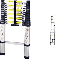 HERZBERG Telescopische ladder - 13 treeds - 3.80m