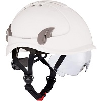 Alpinworker veiligheidshelm wit met bril