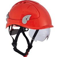 Cerva Alpinworker Lichte veiligheidshelm met veiligheidsbril - rood