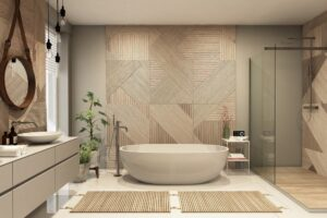 Betere akoestiek in de badkamer; verminder galm en geluidsoverlast